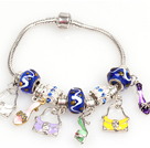 Fashion Style Charm Bracelet with Handbag and High-heel Shoe Pendants