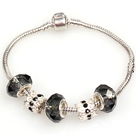 Fashion Style Gray Colored Glaze Charm Bracelet Jewelry