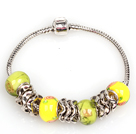 Fashion Style Yellow Colored Glaze Charm Bracelet