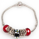 Fashion Style Red Colored Glaze Charm Bracelet