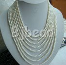 4-5mm white pearl necklace