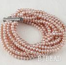 3-4mm pearl strand bracelet