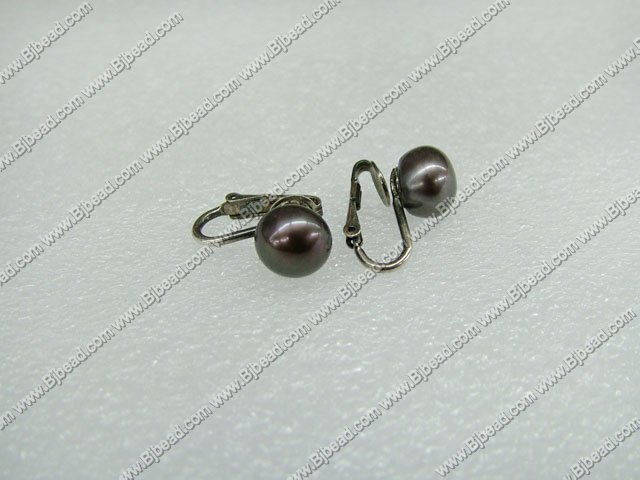 decent 925 silver black pearl studs