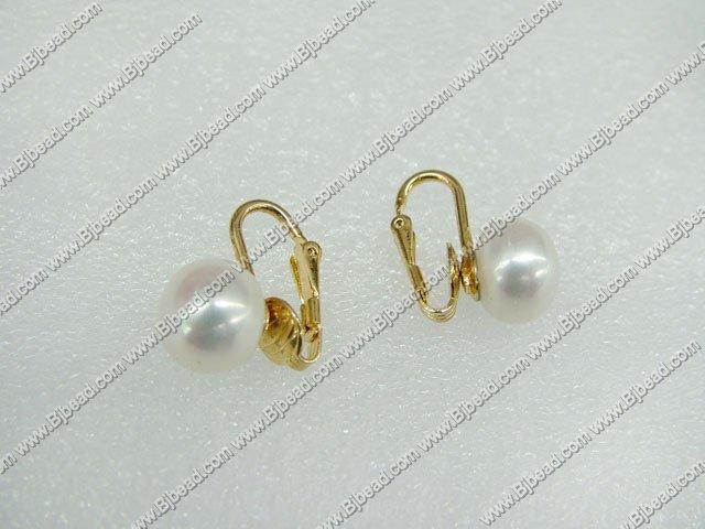 pearl studs clip earrings