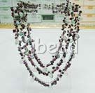 garnet and rainbow fluorite necklace