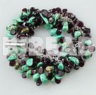 natural turquoise and garnet bracelets