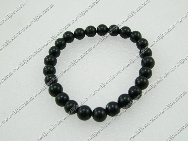 10mm black onyx beaded bracelet