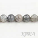 Flashing Stone beads,12mm round, faceted,Sold per 15.75-inch strands