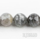 Flashing Stone beads,18mm round, faceted,Sold per 15.75-inch strands