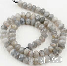 Flashing Stone beads,5*8mm abacus, faceted,Sold per 15.75-inch strands
