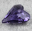 Austrain crystal pendants, purple, 27mm heart shape. Sold per pkg of 2.