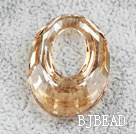 Austrain crystal beads, citrine color, 30mm ring shape. Sold per pkg of 2.