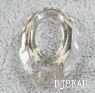 Austrain crystal beads, transparant, 30mm ring shape. Sold per pkg of 2.