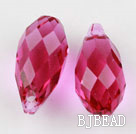 Austrain crystal pendants, purplish red, 13mm  edge hole. Sold per pkg of 2.