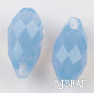 Austrain crystal pendants, blue, 13mm  edge hole. Sold per pkg of 2.