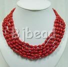 multi strand coral necklace