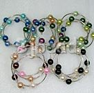 5 pieces 12mm colorful shell beaded bangle