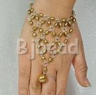 fashion handcraftbrown pearl bracelet