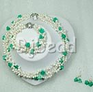 pearl and turquoise sets