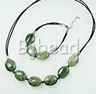 unakite necklace bracelet sets with extendable chain
