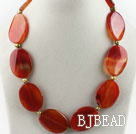 pearl and red carnelian necklace