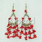 coral earring