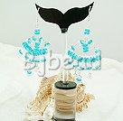 sea blue crysal chandelier earrings