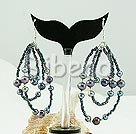 party jewerly black pearl earrings
