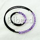 elegant 8mm round amethyst necklace bracelet set