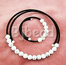 10mm round howlite necklace bracelet sets