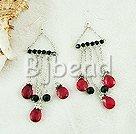 manmade pearl crystal chandelier earrings