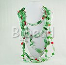 multi strand aventurine crystal necklace