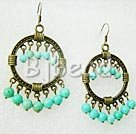 4-6mm turquoise vintage earrings