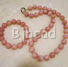 fashion and lovely pink opal stone necklace bracelet sets