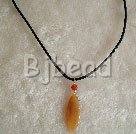 simple and fashion 17.5 inches agate pendant