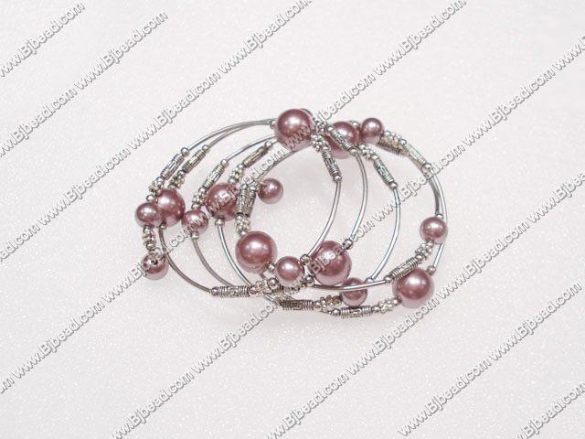 7 inches purple arylic pearl bangle
