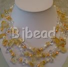 pearl and citrine strand necklace