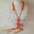 fashion pearl and coral necklace