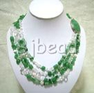 aventurine and crystal strand necklace
