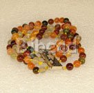 multi color crystal strand bracelet