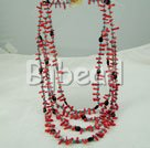 coral and turquoise multi strand necklace