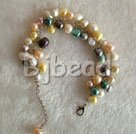 multi color pearl bracelet