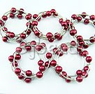 5PCS purple red acrylic manmade pearl bangle