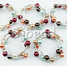 5PCS multi color acrylic manmade pearl bangle(12mm)