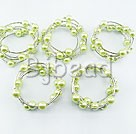 5PCS 12mm acrylic manmade light green pearl bangle