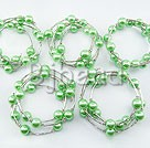 5 pieces 12mm acrylic manmade green pearl bangle