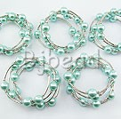 5PCS 12mm acrylic manmade pearl bangle