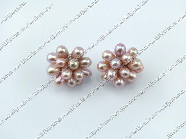 post earring lotus pearl studs
