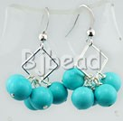 8mm turquoise earrings