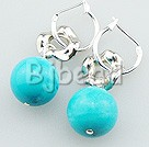 12mm turquoise earrings